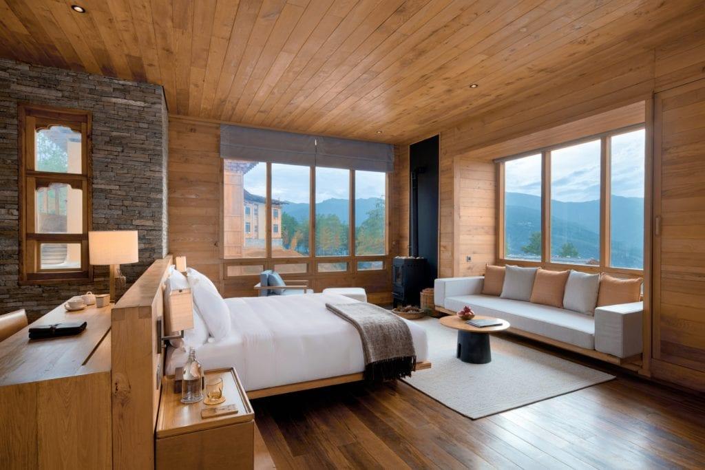 Bhutan Six Senses Paro Suite Bedroom