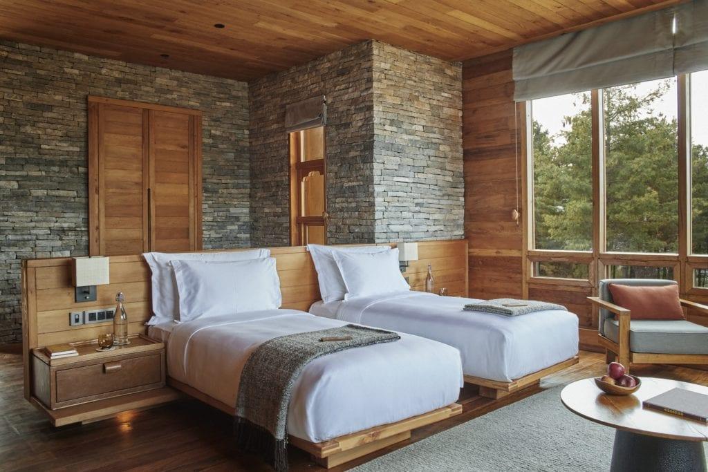 Bhutan Six Senses Paro Bedroom Twin Beds