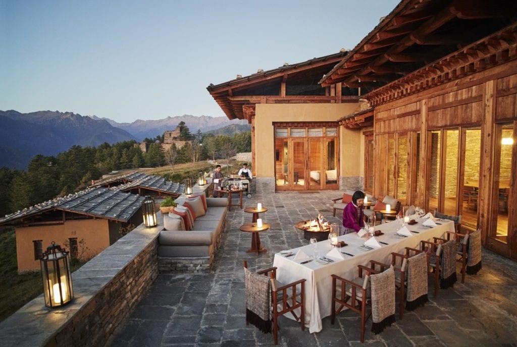 Bhutan Six Senses Paro Villa Terrace