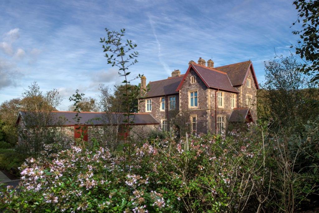 Penrhiw Priory Summer Flowers Garden Exterior Pemrokeshire Wales