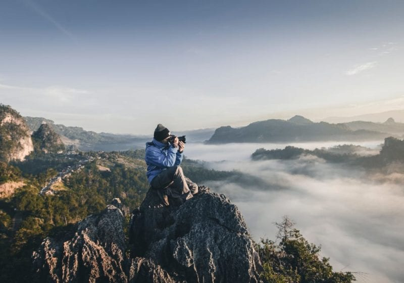 Mountain top photography in Thailand