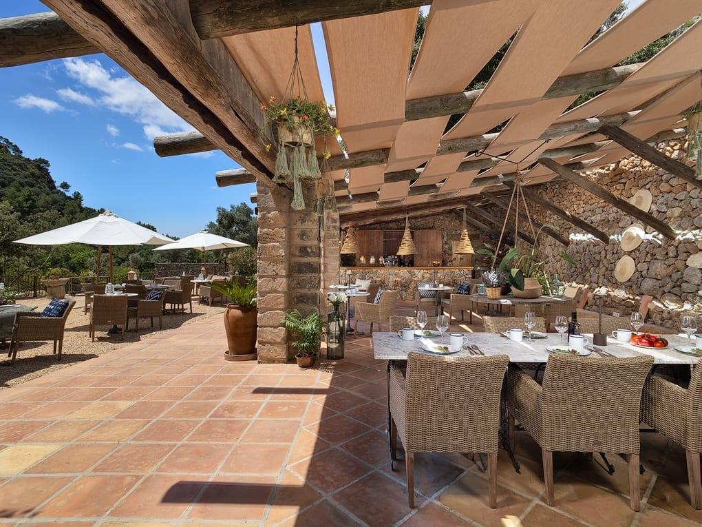Outdoor Restaurant and Seating at LJs Ratxo Resort Mallorca Spain