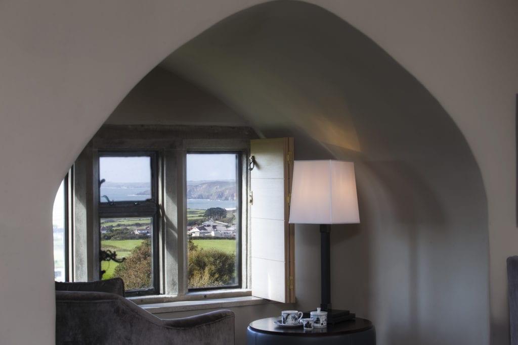 Roch Castle Ap Gruffydd Bedroom View PembrokeShire Wales