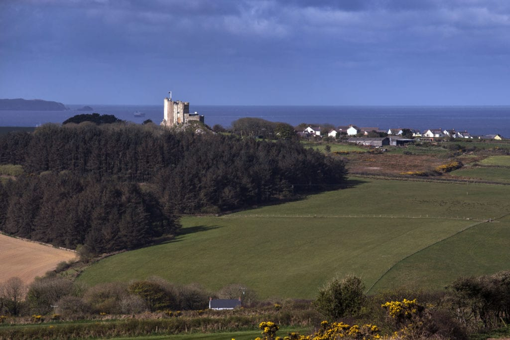 Roch Castle View to St Brides Bay Pembrokeshire Wales
