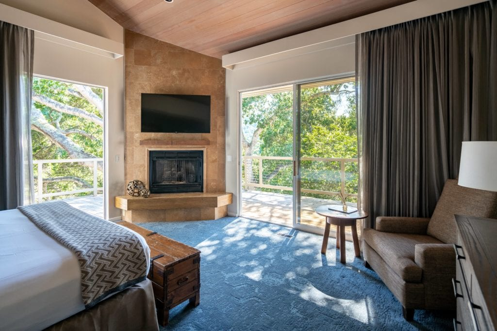 Interior of Room at Carmel Valley Ranch with Balcony America