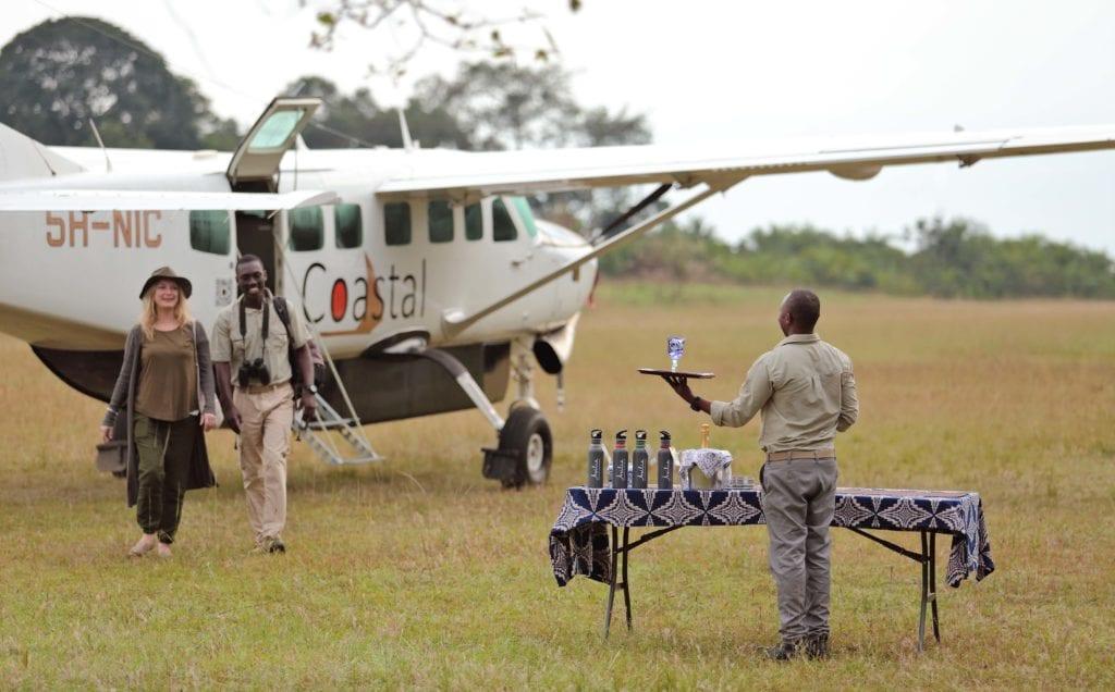 Tanzania Rubondo Island Greeting on Airstrip