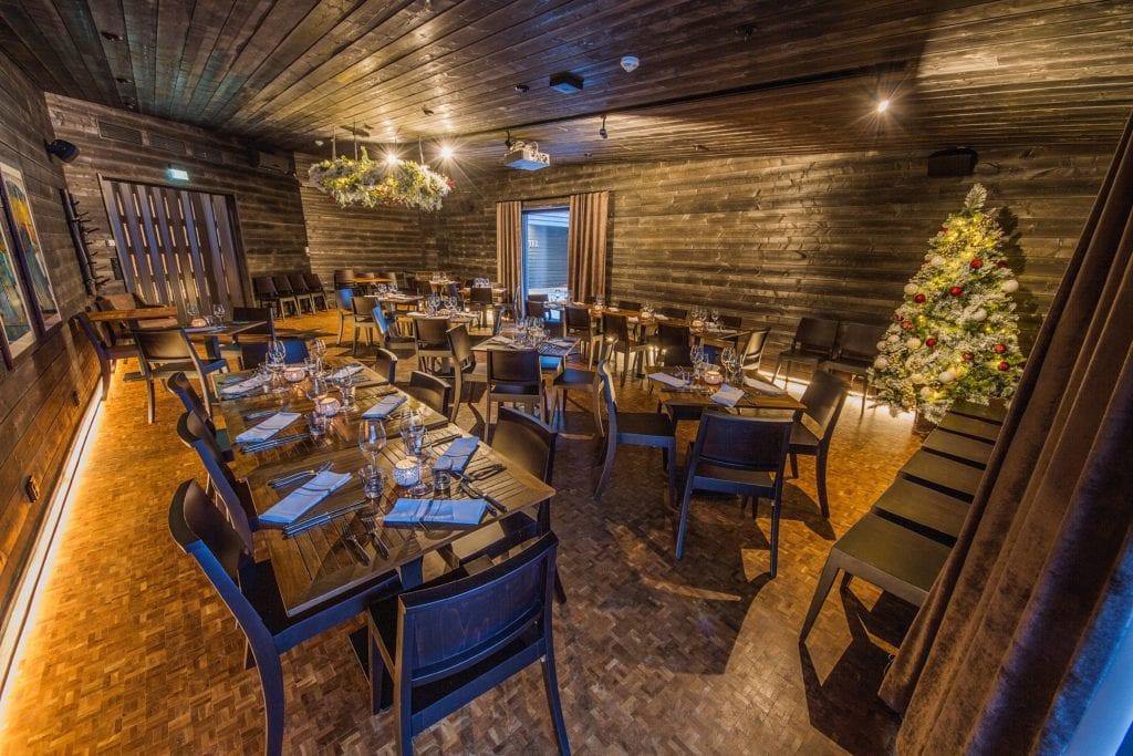 Salarakas Private Cabinet Restaurant Interior at Arctic Treehouse Finland