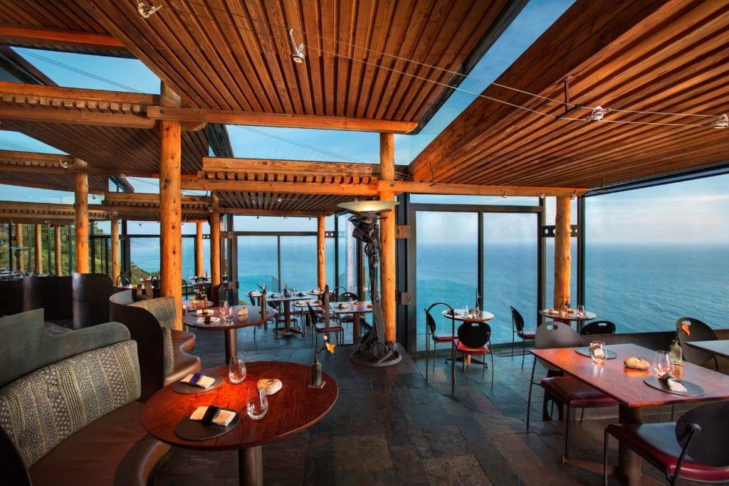 Sierra Mar Interior Restaurant at Post Ranch Inn with Ocean View America