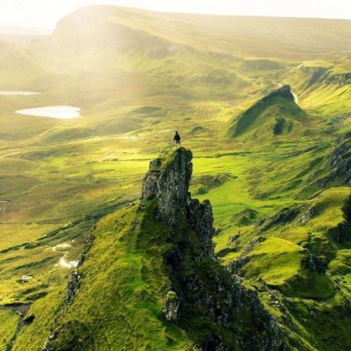 Sky running on the Isle of Skye