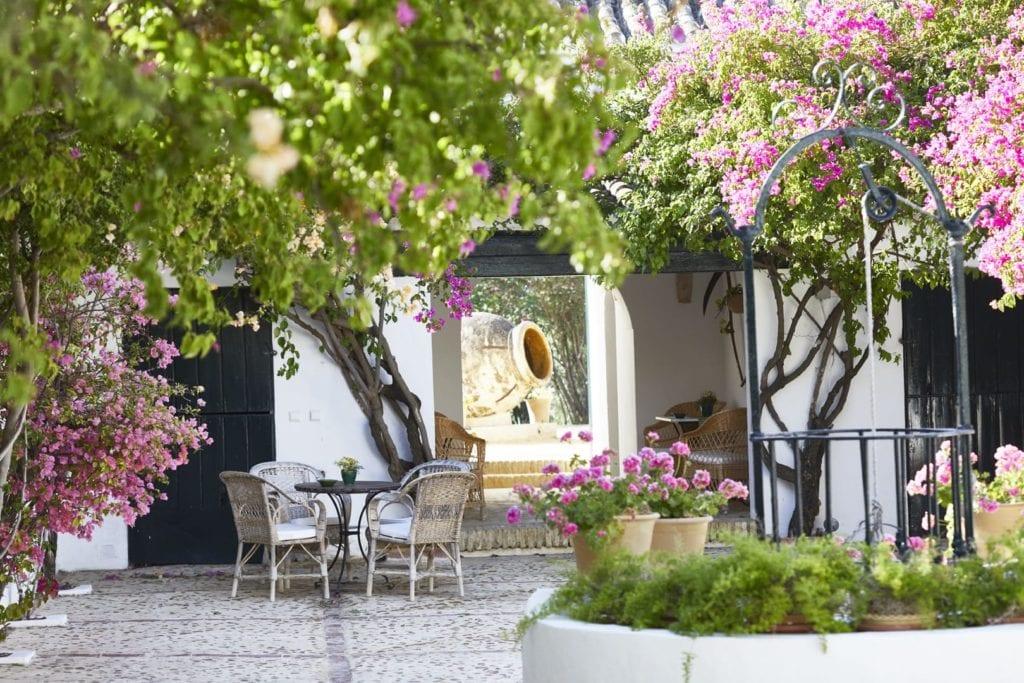 Spain Hacienda Courtyard
