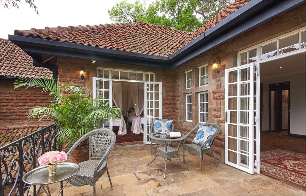 Suite Balcony and Terrace Exterior at Giraffe Manor, Kenya