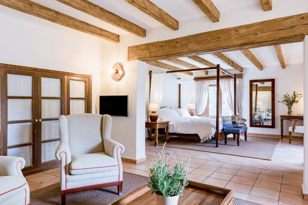 Suite Interior with Seating Area and BEdroom ARea at LJs Ratxo Resort Mallorca Spain