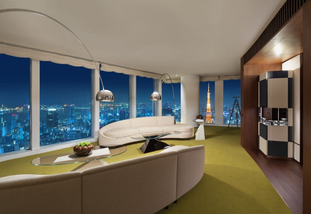 Suite Interior with City Views at Tokyo Andaz Japan