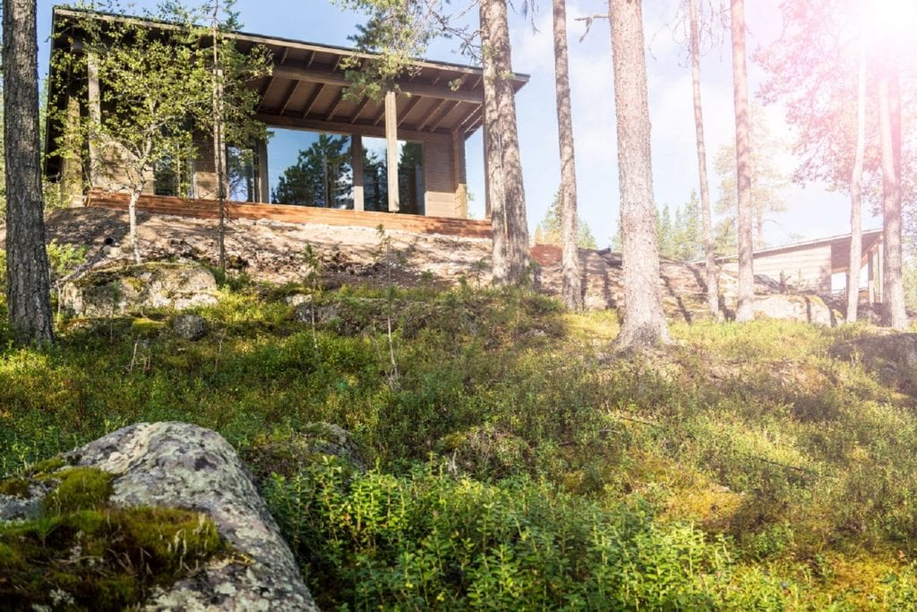 summer Sunset Exterior at Arctic Treehouse Finland