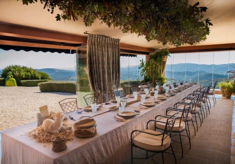 Beautiful terrace dining area in Barranco