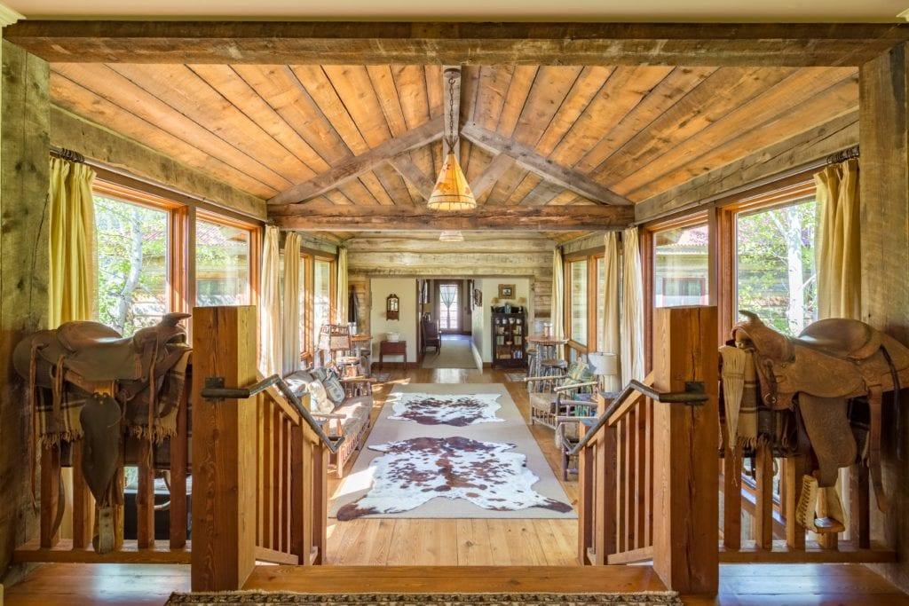 Granite Lodge Bridge Interior The Ranch at Rock Creek America