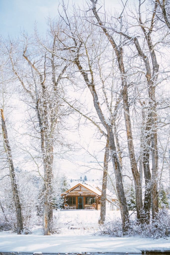 The Ranch at Rock Creek Winter Glamping Exterior Snow America