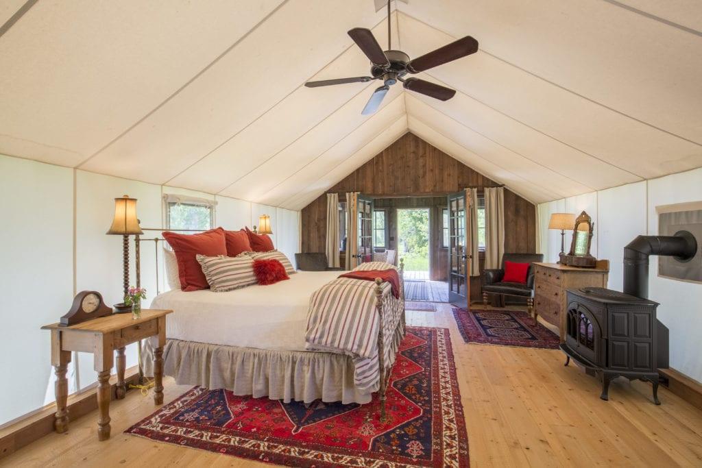 Classic Canvas Cabin Interior The Ranch at Rock Creek America