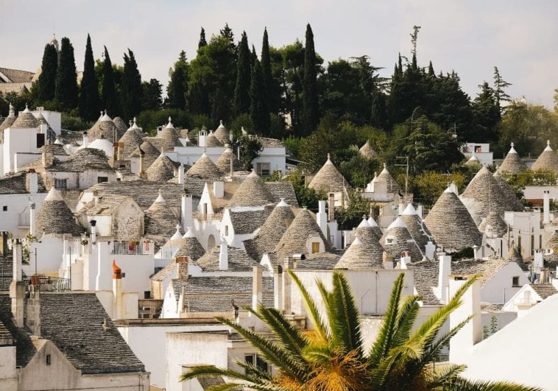 Traditional cottages in Puglia, Italy