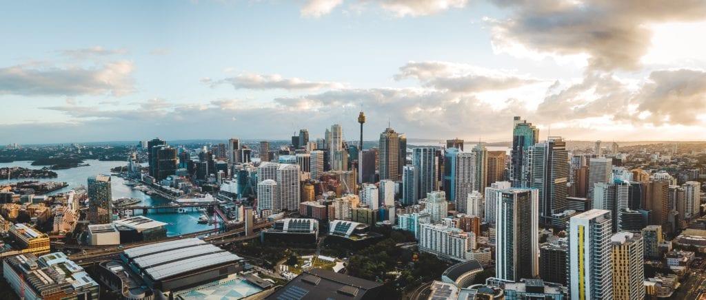 City Skyline of Sydney Australia