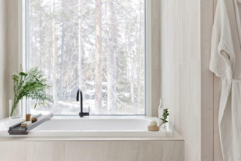 Wellness Area Executive Suite Interior Arctic Treehouse Finland
