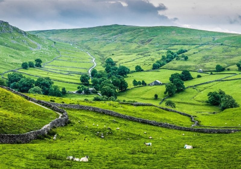 Rolling green hills of Yorkshire
