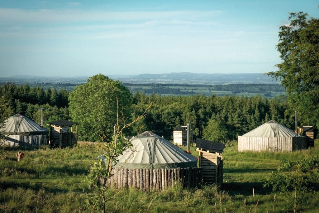 Yurts on Swinstone Estate Glamping Yorkshire England