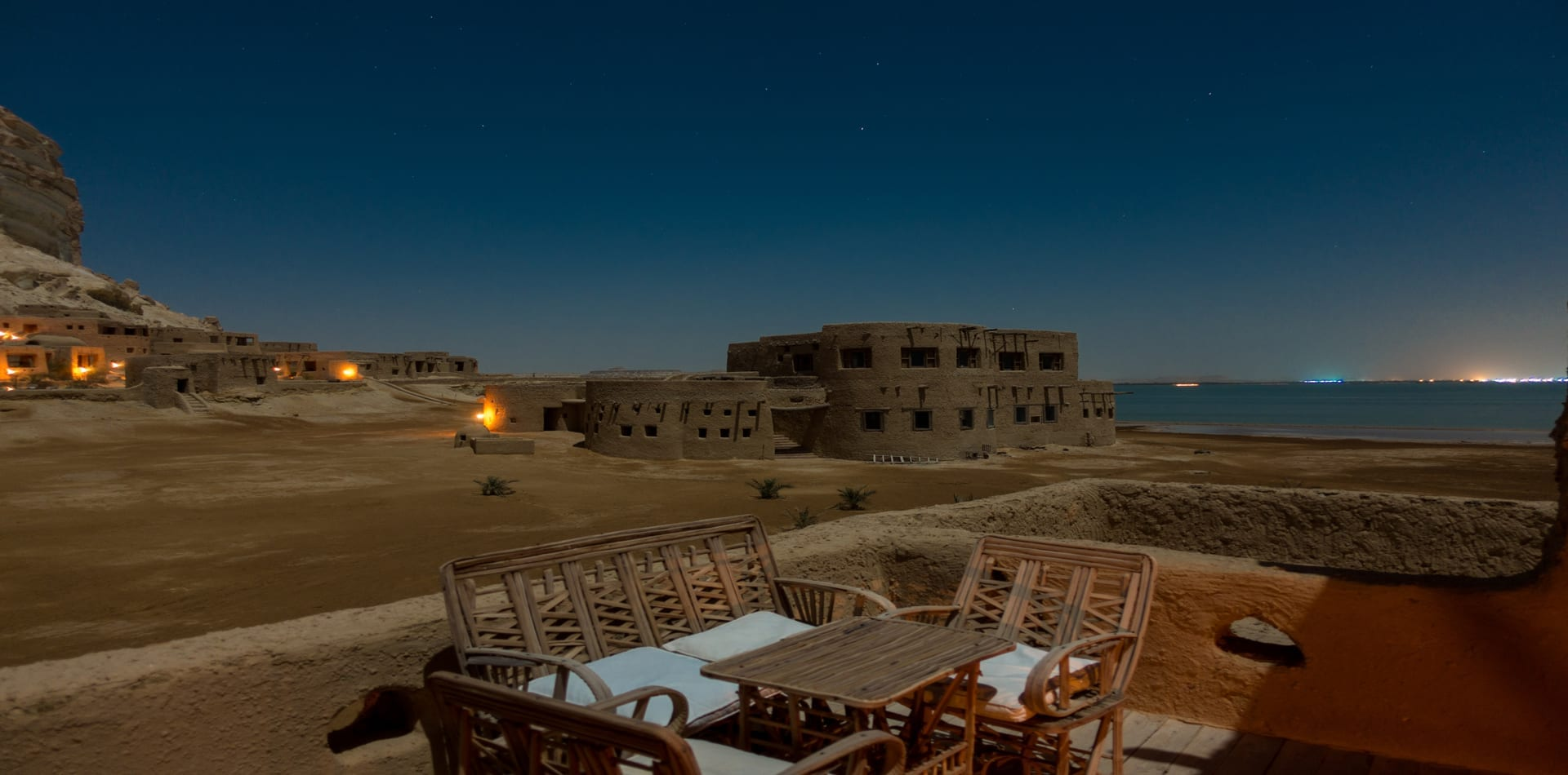 adrere amellal night time view Egypt