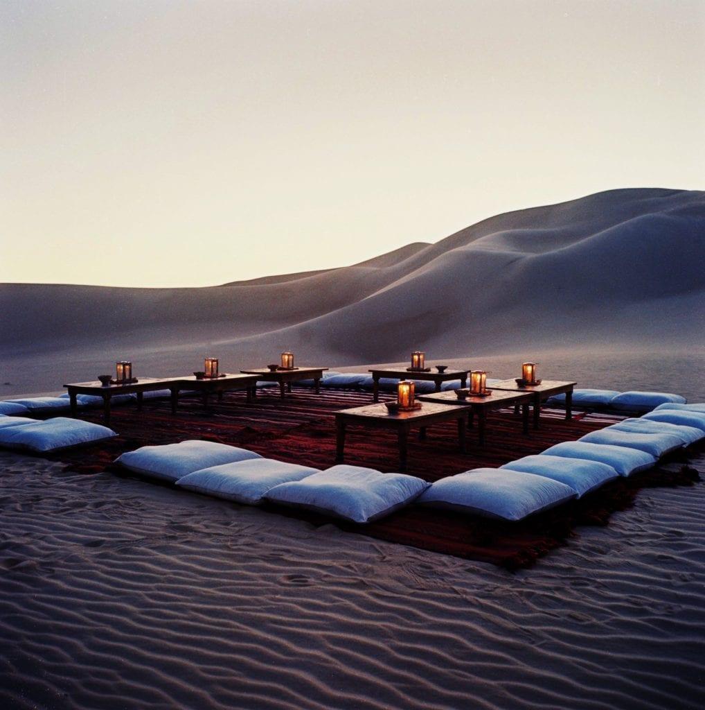 Adrere Amellal sand dinner