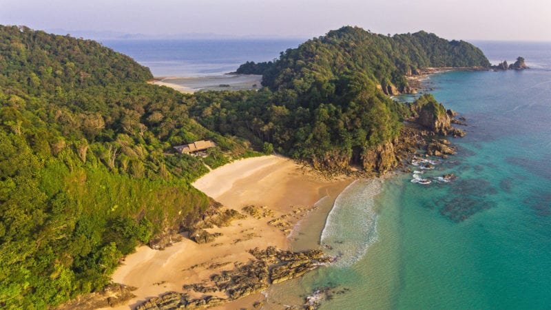 secluded resort with private beach