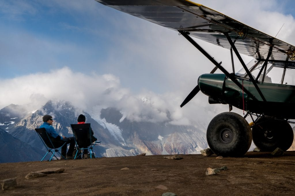 Plane and picnic in Alaska with Ultima Thule Lodge