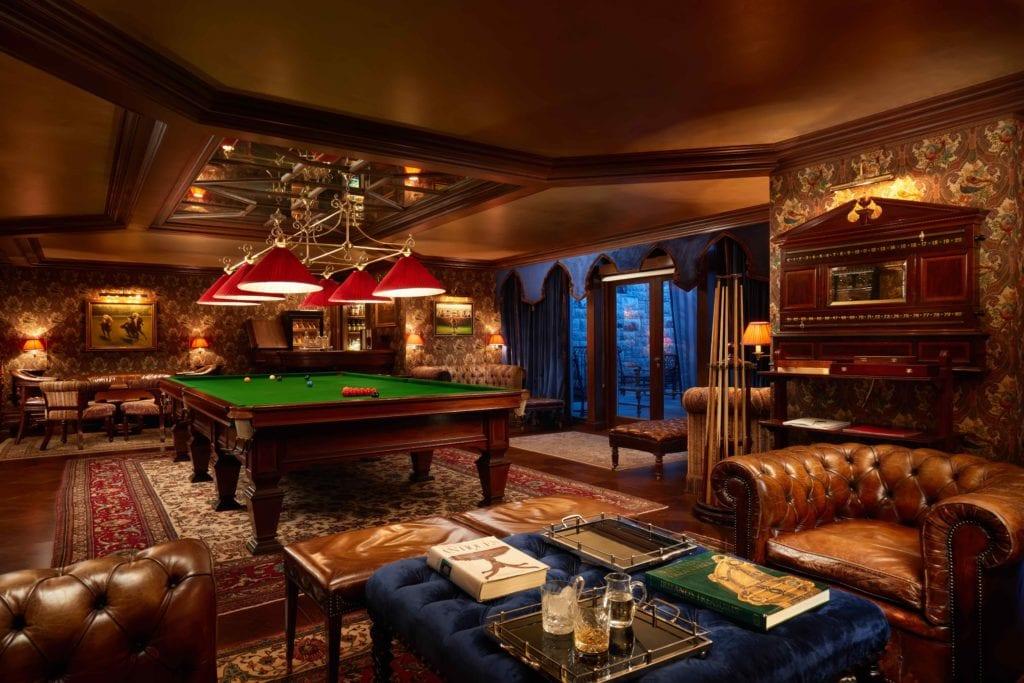 ireland ashford castle billiards room