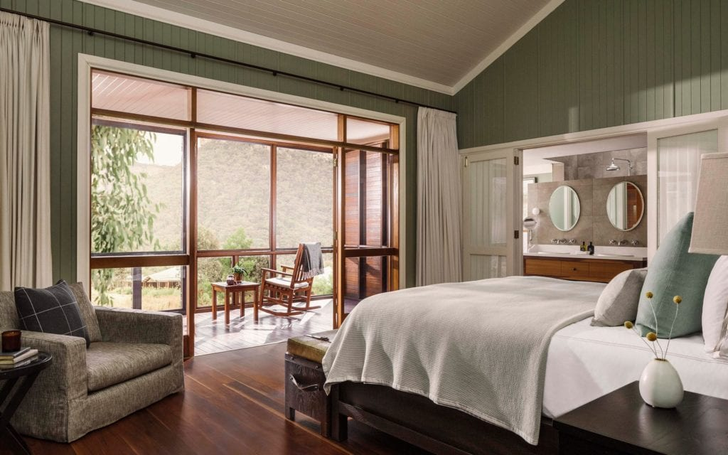 Australia One and Only Wolgan Valley Interior Bed Room