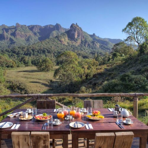 HERO Ethiopia Bale Mountain Lodge Breakfast View