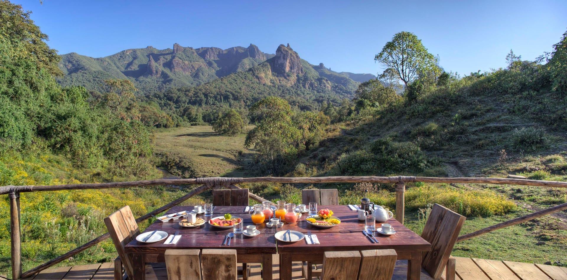 HERO Ethiopia Bale Mountain Lodge Breakfast View