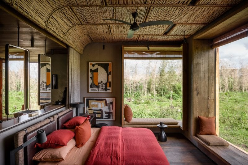 woven ceilings highlights the authentic East African appeal