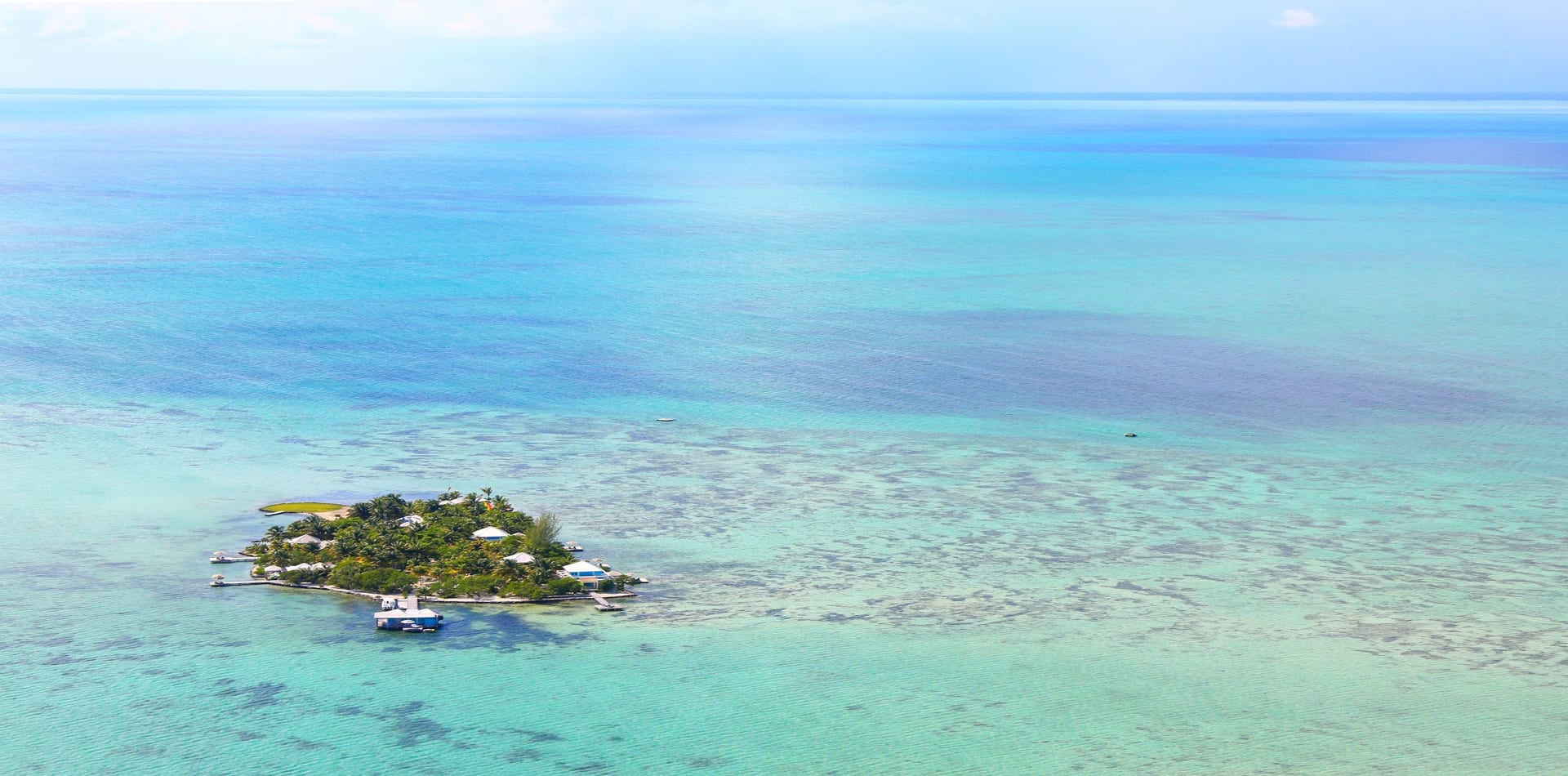 Cayo Espanto Aerial View of Island in Belize