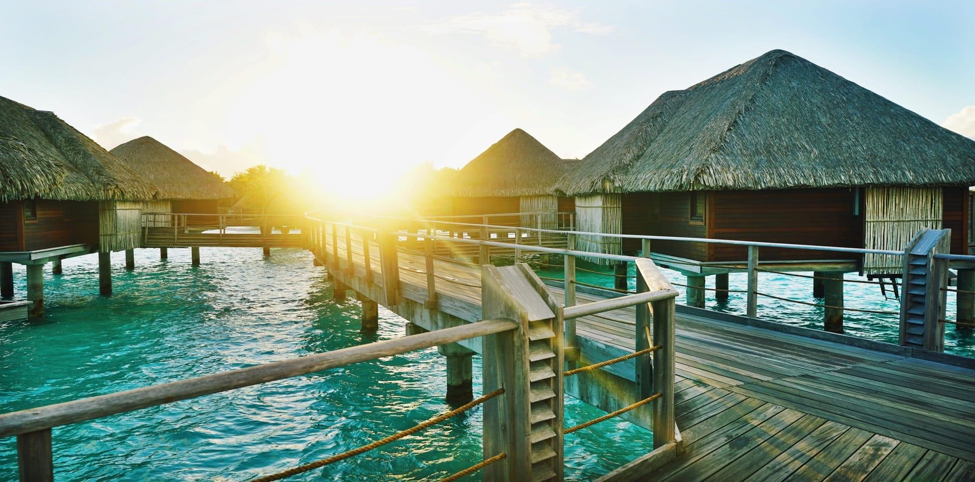 Bora Bora French Polynesia huts