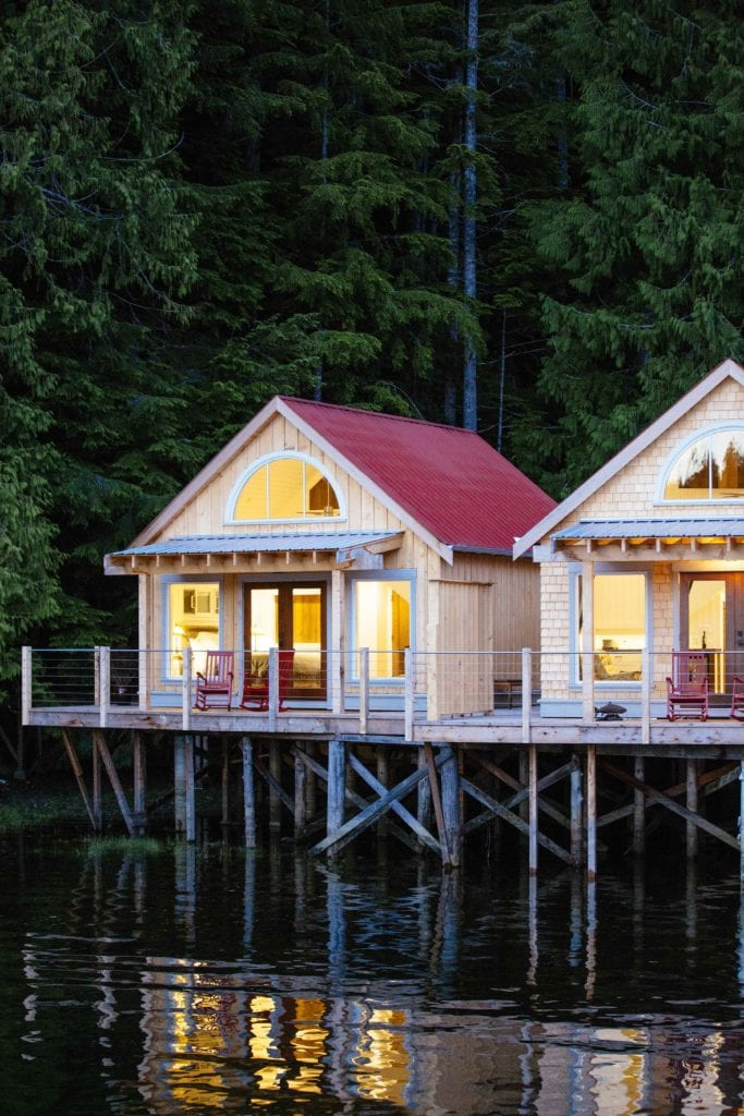 Water front cabin at Nimmo Bay Canada