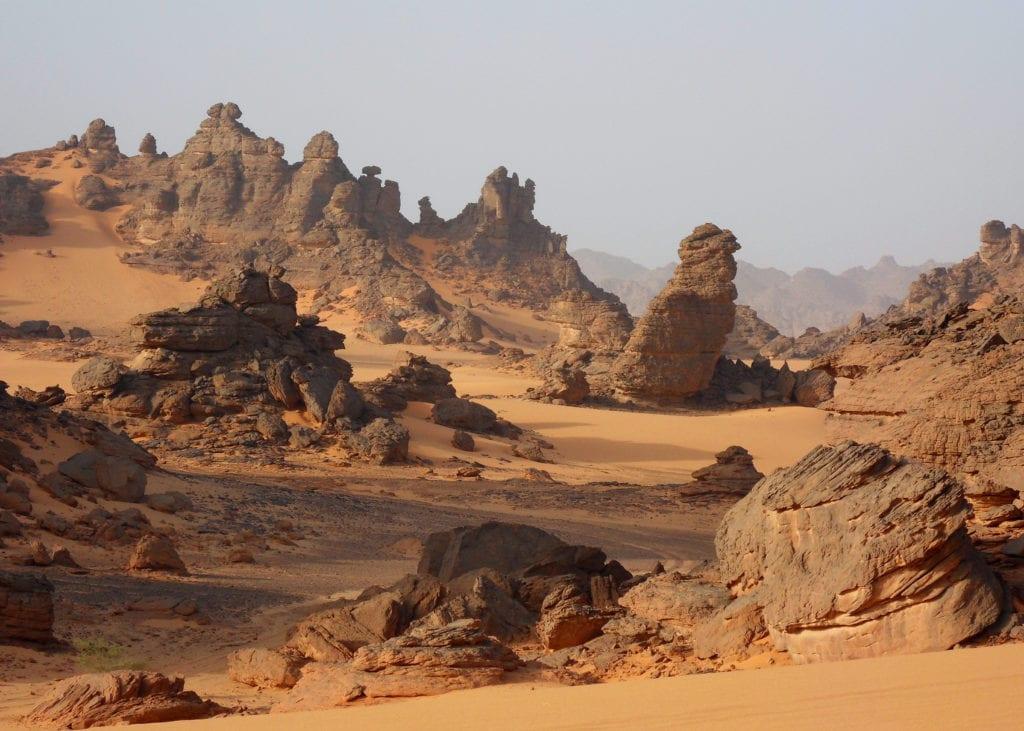 Chad's intricate rocky terrain
