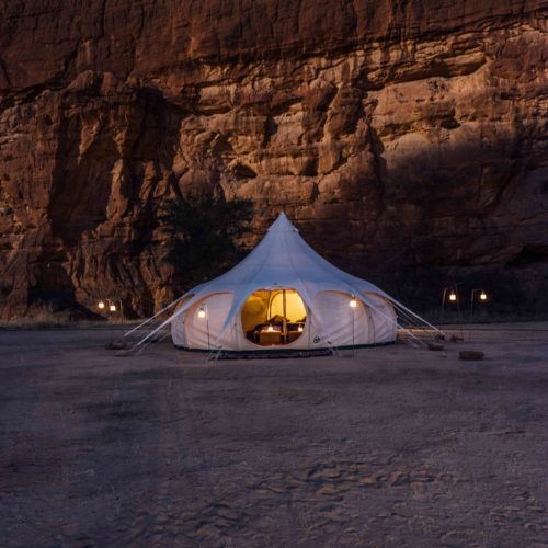 Chad Warda Camp Tent Exterior