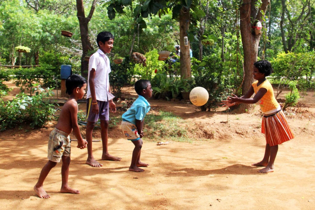 Children playing in a Sri Lankan village