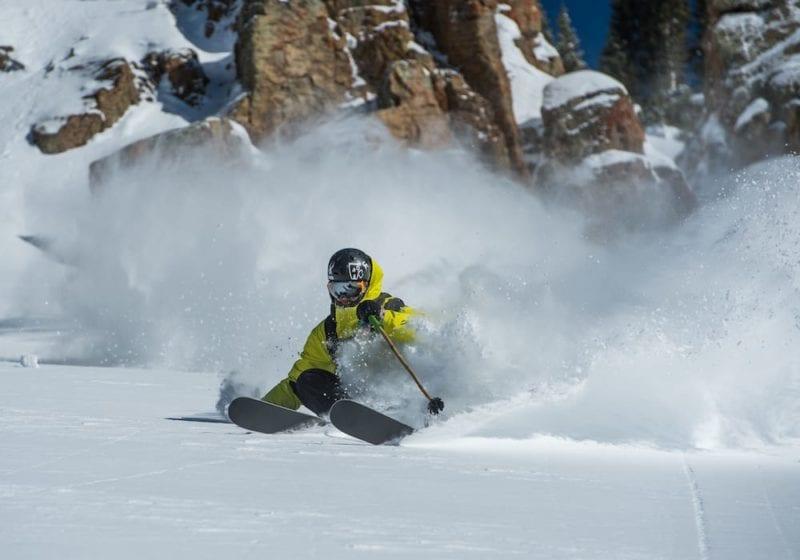 Shredding off-piste in Colorado