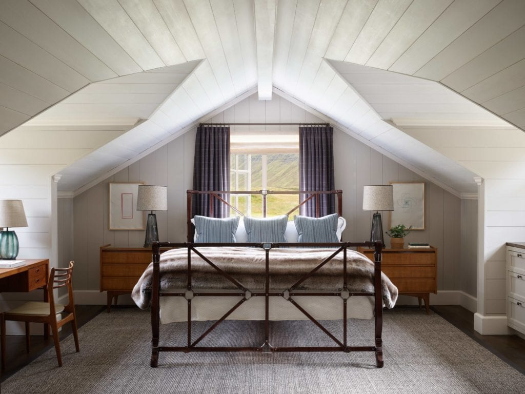 bedroom interior deplar farm iceland