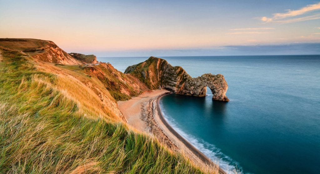 Durdle Door Geological Rock formation Dorset Coast England