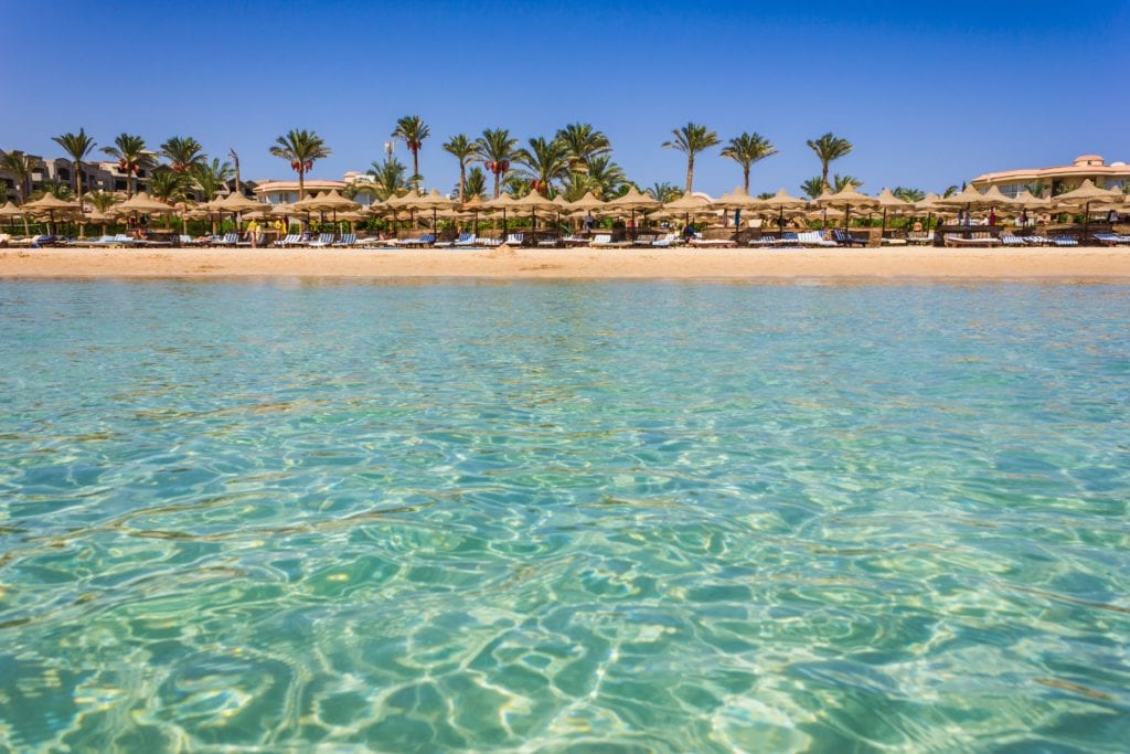 Beach from the sea in Egypt