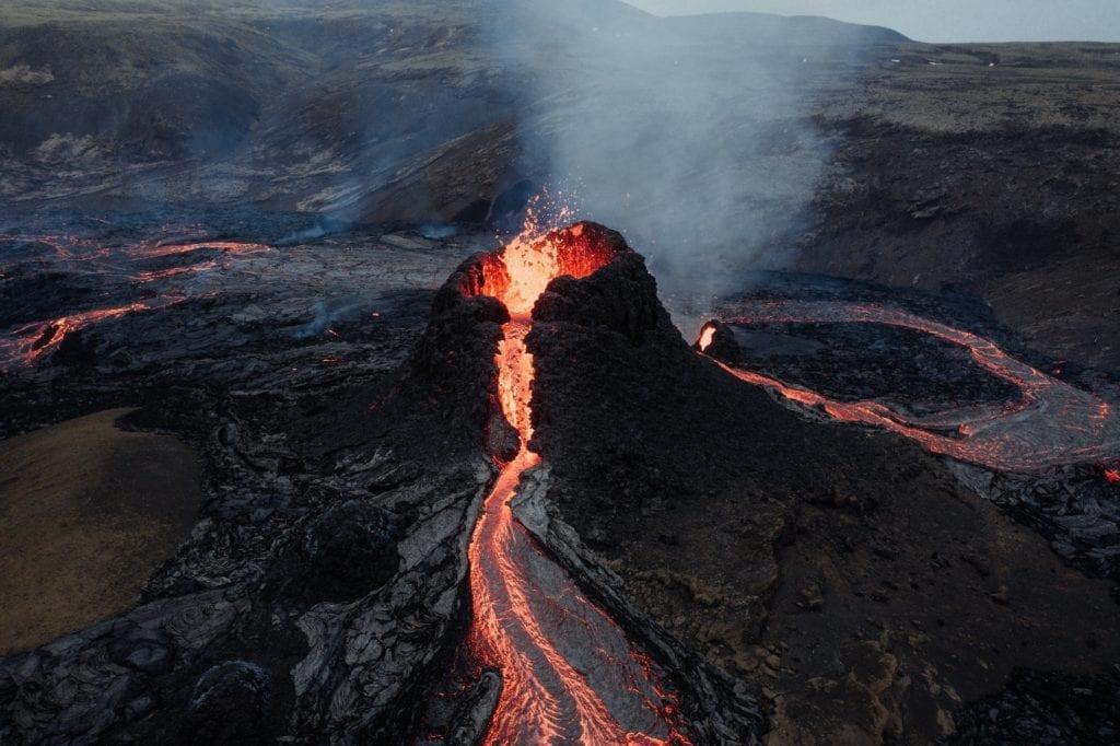Erupting Volcano, Iceland