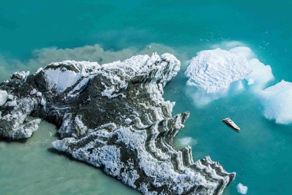 explorer yacht ice aerial