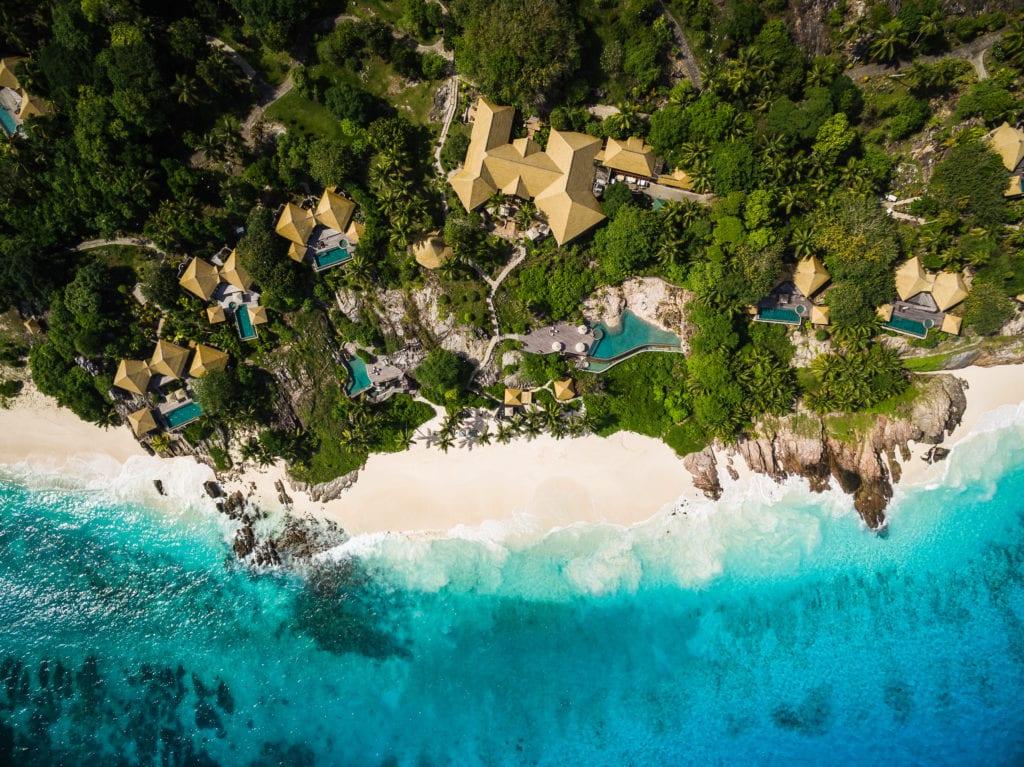 aerial view fregate island resort