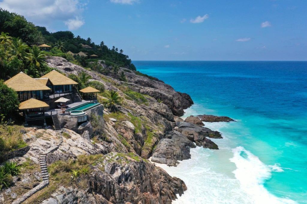 fregate island private villa exterior view